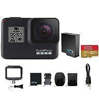 GoPro HERO7 BLACK カメラ本体+(HERO7用純正バッテリー/推奨SDカード付きセット)
