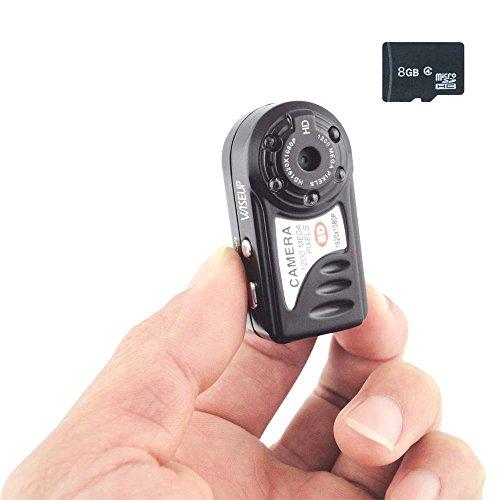 WISEUP 8GB 1080P HD トイデジタルカメラ ポータブルミニビデオカメラ SDカード付き 動画 写真 録音対応