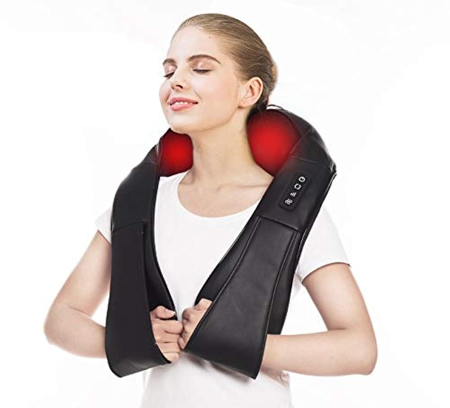 活気づけるヘルパー剛性首マッサージャー ?ネック?ショルダーマッサージ 器 静音 マッサージ機 肩 首 首 マッサージ ヒーター付 首?肩?腰?背中?太もも 肩こり ストレス解消? 携帯、車や家庭での使用