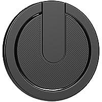 スマホリング ホールドリング バンカーリング フィンガーリング 指輪リング iPhone・Android 各種対応 スマートフォン/タブレット対応 AnvFlik 075【シンプル おしゃれ 便利 薄型 軽い 360度回転 落下防止 スタンド機能 簡単装着】 (Black)