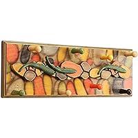 JIANFEI 壁コートラック 衣類ハット 8フック 塗装 デュアル使用 丈夫なベアリング 木製