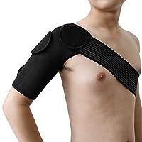 スポーツのためのeDealMaxブラック取り外し可能な弾性ショルダーサポート包帯保護