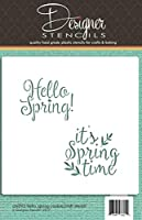 Hello Spring and It's Springtime Cookie and Craft Stencil CM093 by Designer Stencils