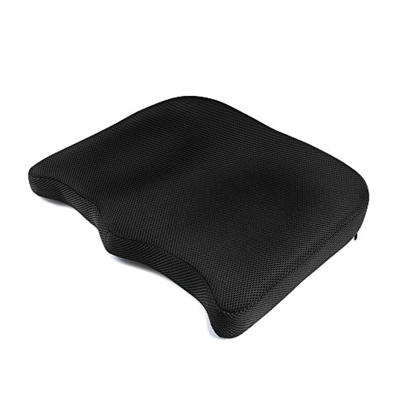 IKSTAR クッション 低反発座布団 オフィス 椅子 車用 RoHS安全基準クリア 座り心地抜群 カバー洗える 通気性 シートクッション【メーカー正規品?1年保証】