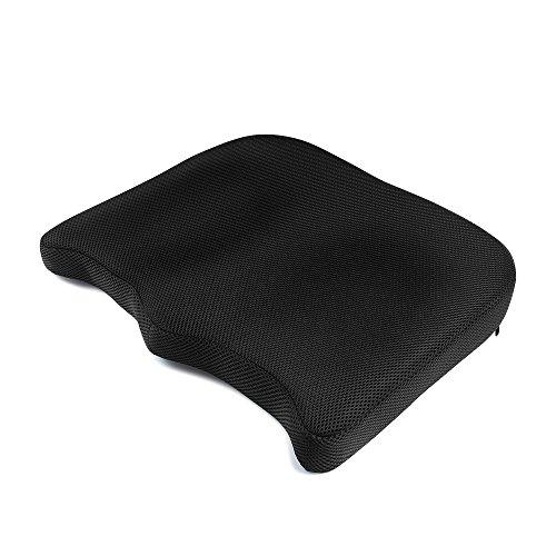 IKSTAR クッション 低反発座布団 オフィス 椅子 車用 RoHS安全基準クリア 座り心地抜群 カバー洗える 通気性 シートクッション【メーカー正規品・1年保証】