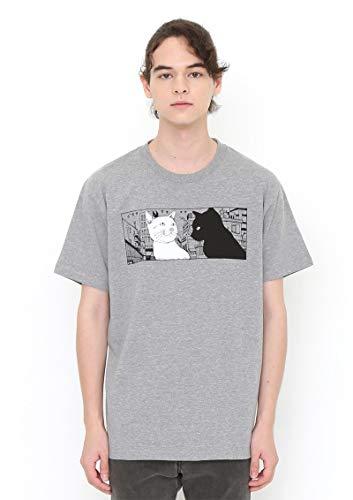 (グラニフ) graniph コラボレーション Tシャツ 鉄コン筋クリートシロとクロ (松本大洋) (ヘザーグレー) メンズ レディース XL
