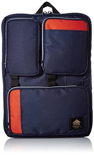 [イエント] ガジェットケース カムアップウィズ A4 縦横対応 バッグインバッグ PC ノート パソコン タブレットケース IE-11 NAVY/ORANGE ネイビー/オレンジ