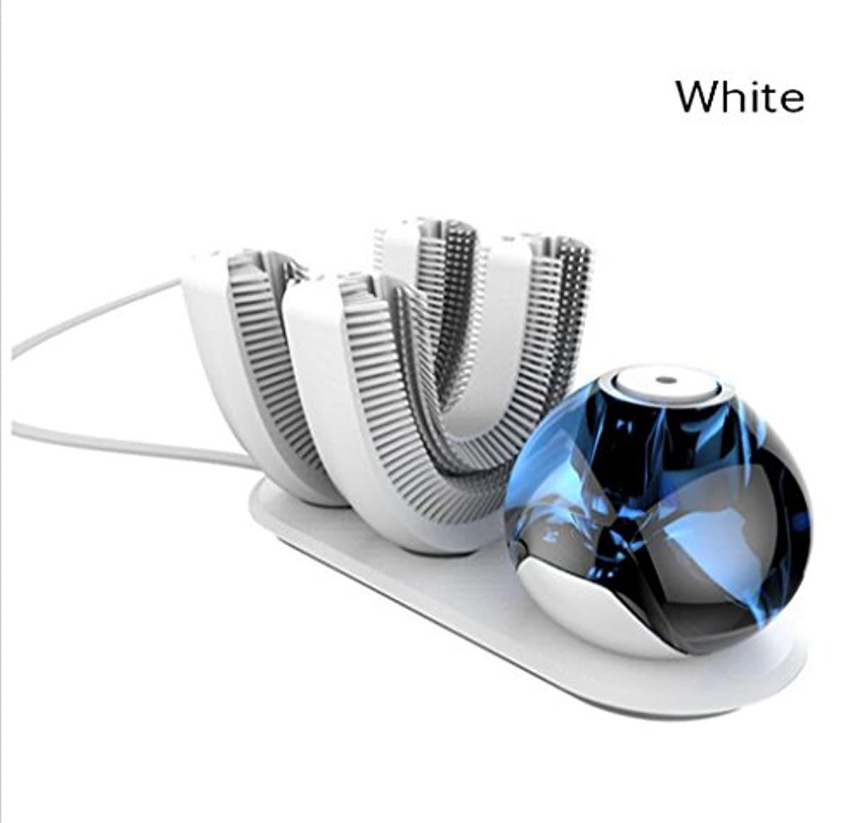風味罹患率無駄なNatood 歯ブラシのヘッドの2、怠惰なKibasuriによる自動歯ブラシは、 電気怠惰な電動歯ブラシ用ワイヤレス充電式360°自動歯ブラシを設計され、白 白