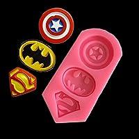 キャプテンアメリカスーパーマンバットマンシンボルDiyケーキ型チョコレートキャンディ型ベーキング(Rustle666)