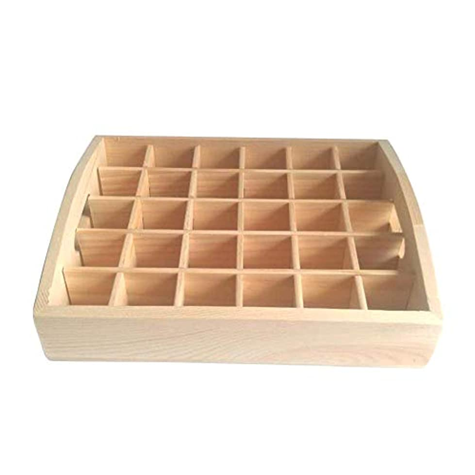 Pursue アロマオイルスタンド 精油収納 香水展示スタンド エッセンシャルオイル収納 木製 30本用