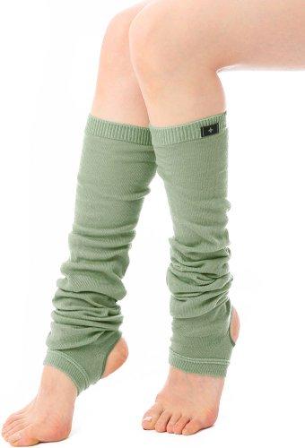 (ルーパ)Loopa レッグウォーマー 抗菌防臭糸使用 ヨガウェア トレンカ 靴下 レディース (オフミント)