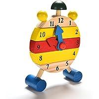 mazimark --ベビーブロックEarly Learning建物子供教育木製玩具クロックsh2