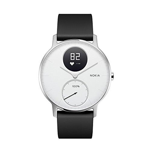 Nokia スマートウォッチ Steel HR 心拍&アクティビティモニター(36mmモデル) ホワイト 【日本正規代理店品 HWA03-36WHITE-ALL-JP