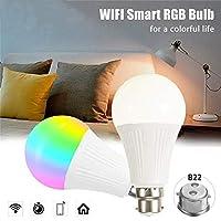 WiFiスマート電球、Alexa、Google Home、IFTTT対応の9WスマートLED電球、調光対応RGBスマート電球、ハブ不要、60W相当のリモートコントロール,E26