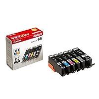 BCI-351+350/6MP 6色パック CANON インクカートリッジ 純正品 【2箱セット】
