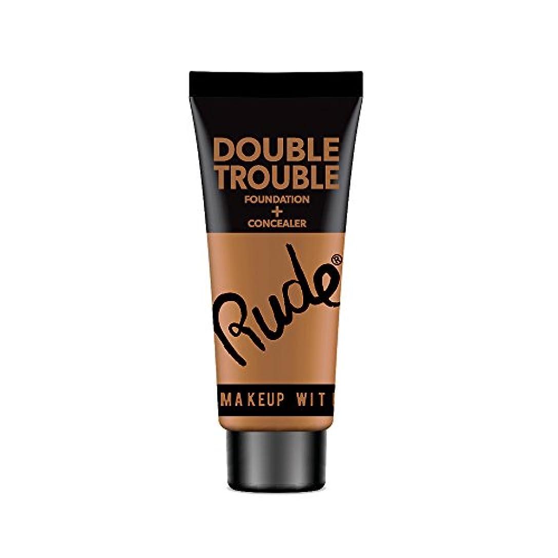 モスク累計飲料(6 Pack) RUDE Double Trouble Foundation + Concealer - Walnut (並行輸入品)