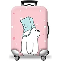 TDC Men's Elastic Luggage Cover Luggage Suitcase CoverPink Bear Printing