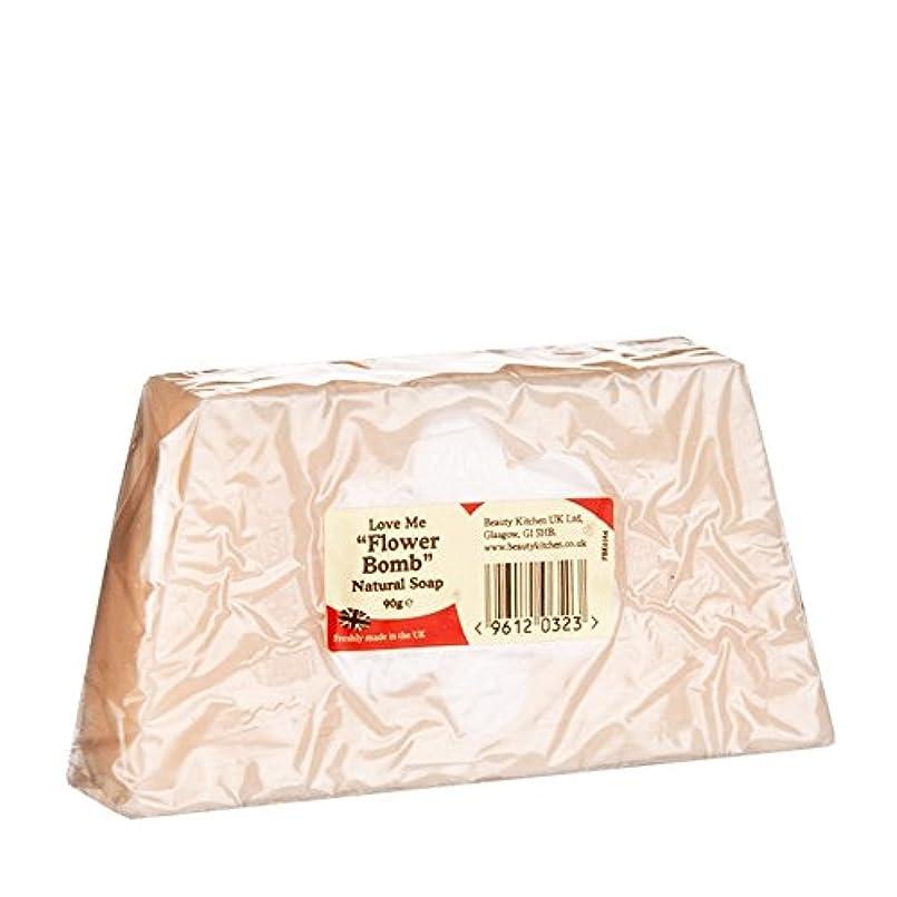 Beauty Kitchen Love Me Flower Bomb Natural Soap 90g (Pack of 6) - 美しさのキッチンは私に花爆弾の天然石鹸90グラムを愛し (x6) [並行輸入品]