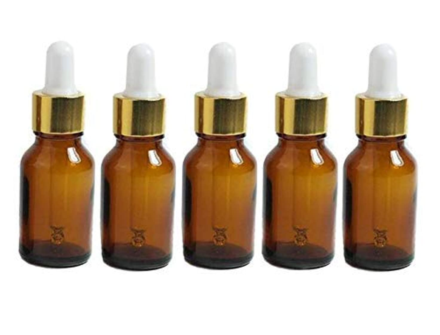 聴く支配する競争力のある6PCS 15ml Mini Amber Glass Via With Pipette Dropper Bottles Aromatherapy Essential Oil Refillable Dropper Bottles...