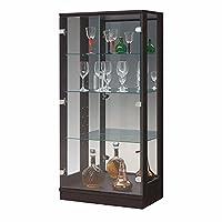 コレクションケース ガラスケース 縦型 フォレスト 木目調 (ダークブラウン, 幅60㎝縦型タイプ)