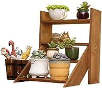 QTKGG 花は、屋内での使用のためにテーブルに適したカップボウルと竹内側シェルスタンド (Color : A)