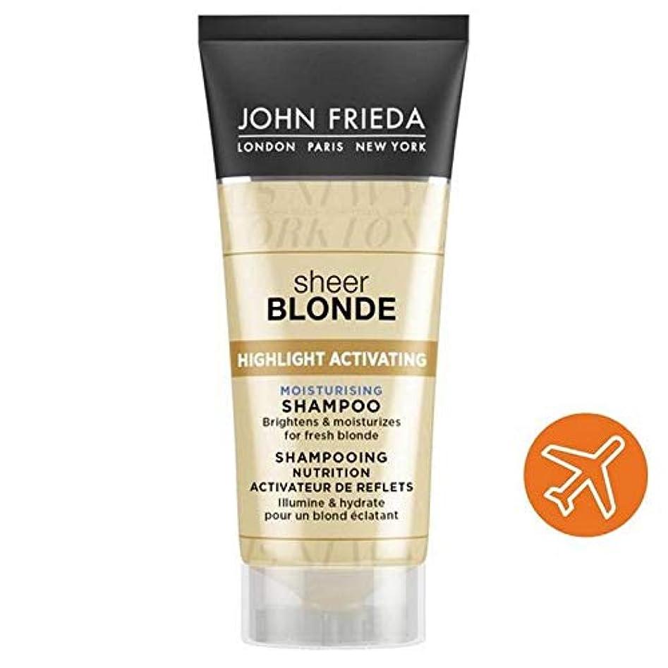 仲人考える色合い[John Frieda ] ジョン?フリーダ保湿旅行シャンプー膨大な金髪50ミリリットルを活性化ハイライト - John Frieda Highlight Activating Moisturising Travel Shampoo Sheer Blonde 50ml [並行輸入品]