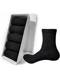 Elife 靴下 メンズ ビジネスソックス抗菌 防臭 吸汗 通気性抜群 竹繊維の靴下 5足/10足 セット 24-28cm 黑