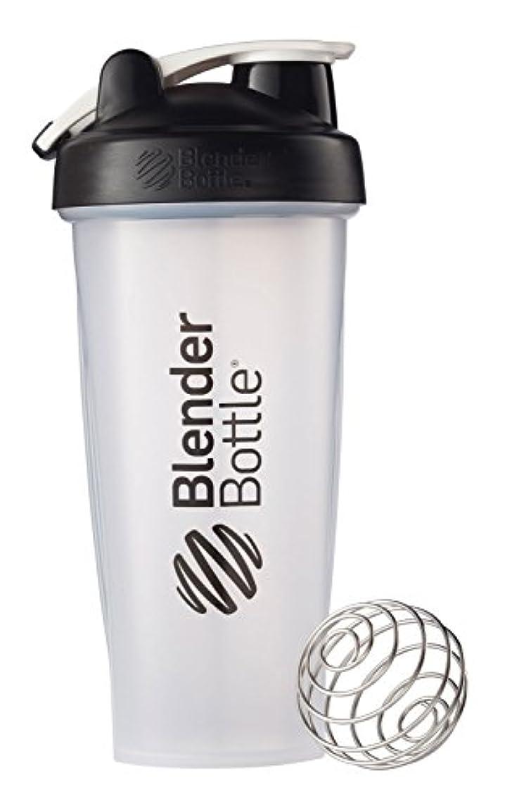 ジェスチャーニンニク平和Blender Bottle(ブレンダーボトル) 【日本正規品】 Blender Bottle Classic w/Loop Clear 28オンス BBCLWL28 BK