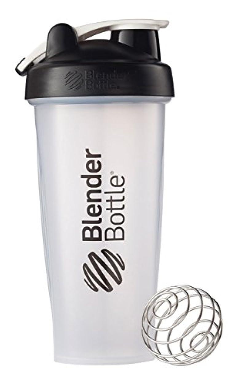 ラリーベルモント当社非難するBlender Bottle(ブレンダーボトル) 【日本正規品】 Blender Bottle Classic w/Loop Clear 28オンス BBCLWL28 BK