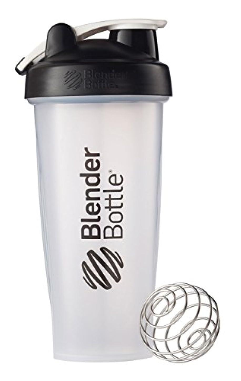 一生狂った切り離すBlender Bottle(ブレンダーボトル) 【日本正規品】 Blender Bottle Classic w/Loop Clear 28オンス BBCLWL28 BK
