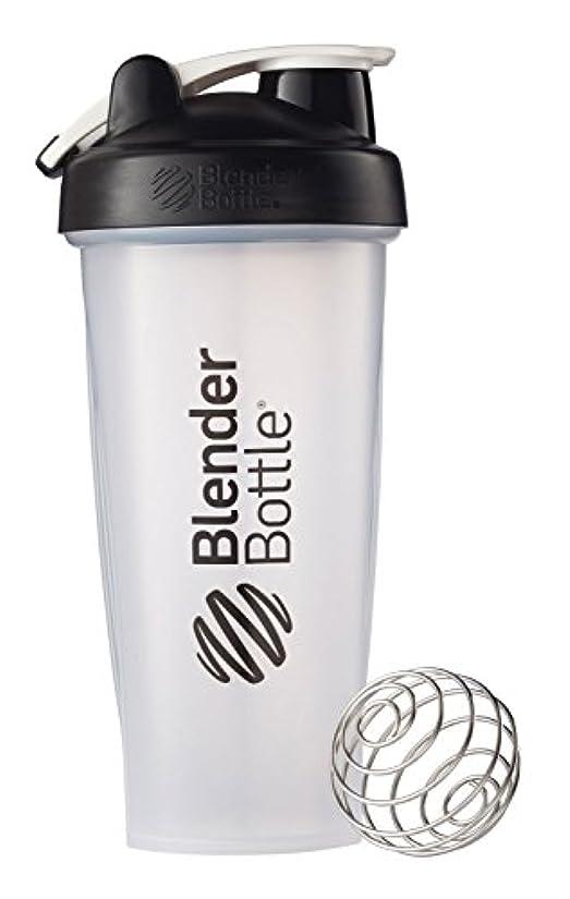 はねかける居心地の良い文明化Blender Bottle(ブレンダーボトル) 【日本正規品】 Blender Bottle Classic w/Loop Clear 28オンス BBCLWL28 BK