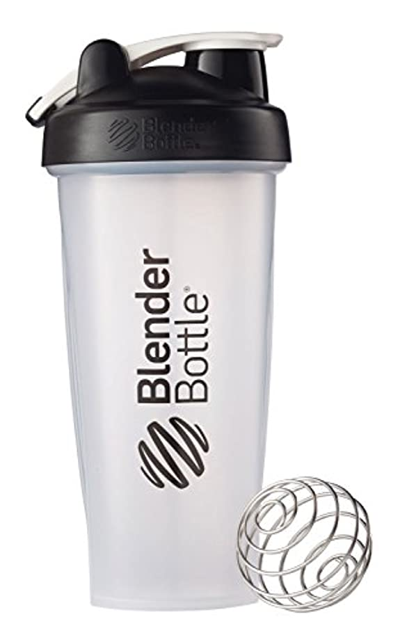 幻滅カラス同種のBlender Bottle(ブレンダーボトル) 【日本正規品】 Blender Bottle Classic w/Loop Clear 28オンス BBCLWL28 BK