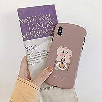 PHONE CASE LUOSAI 携帯電話のシェルiPhone 8 plus / 7 p / 6 sかわいい落下防止女性モデルのための漫画豚アップルXSマックス/XR (Size : IPhone XR 6.1)
