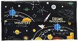 抗菌マスクケース 携帯用 マスク収納 持ち運び マスクポーチ ダブルポケット 太陽系惑星とコスモプラネタリウム(ブラック) ND201700