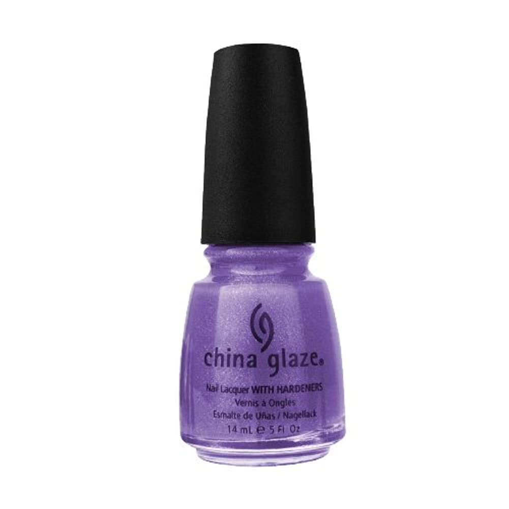 規範まっすぐ飢えCHINA GLAZE Nail Lacquer with Nail Hardner 2 - Grape Juice (並行輸入品)