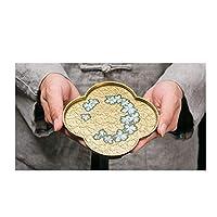 XISENHAN 銅合金七宝ポット、大規模なティーポットホルダー、ポットマット断熱マット、カンフーティーセット茶道アクセサリー (スタイル : E)