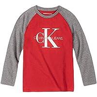 Calvin Klein Boys' Big Long Sleeve Tee