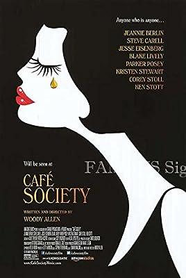 映画ポスター カフェ・ソサエティ Cafe Society /モノクロ おしゃれ アート インテリア フレームなし /両面 【数量限定・初版】