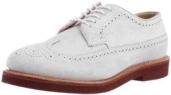 Cambridge Wingtip Classic Oxford: White Suede 71545