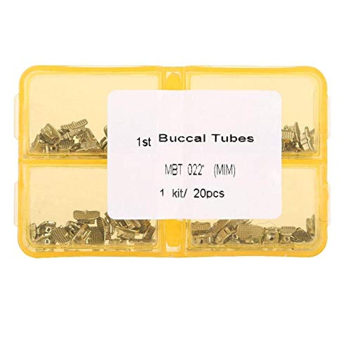 鈍い混合した禁止するNitrip 歯科矯正チューブ 第1臼歯 ロスシングルバッカルチューブ ステンレス 80pcs