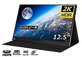 cocopar 12.5インチ/2K モバイルモニター/モバイルディスプレイ/薄型/IPSパネル/USB Type-C/標準HDMI/mini DP/保護カバー付/560g/3年保証 (カバー付)