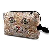 スコティッシュフォールド ブラウン 猫 化粧バッグ 収納袋 女大容量 化粧品クラッチバッグ 収納 軽量 ウィンドジップ