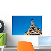Sunny Day Eiffel Tower Wall Mural by Wallmonkeys Peel and Stick Graphic (18 in W x 12 in H) WM362347 [並行輸入品]