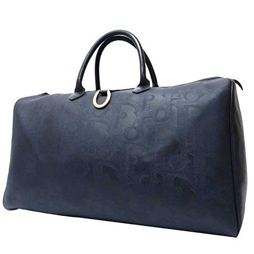 DIOR(ディオール)トロッター ボストンバッグ ネイビー トラベルバッグ 旅行鞄 ゴールド ロゴ 16616【中古】