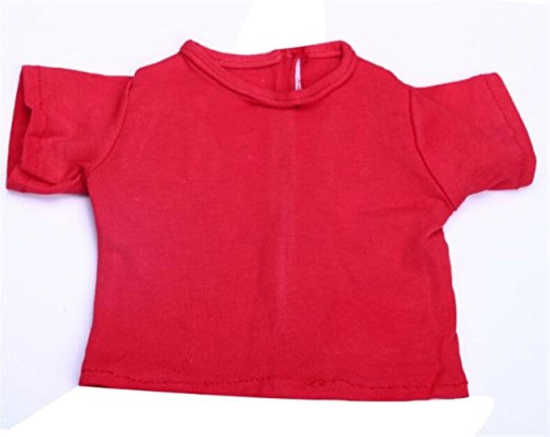HuaQingPiJu-JP 18インチアメリカンガールドールTシャツ(レッド)