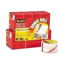 新しいScotchブック修理テープ8-rollマルチパック15-yard Rolls 3インチコアクリスタルクリア