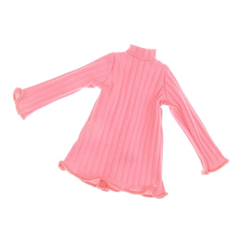 Blesiya 服 人形ドール用 長袖ジャンパー ドレストップ 12インチブライスアゾンリカドール人形対応 7カラー選ぶ - ピンク