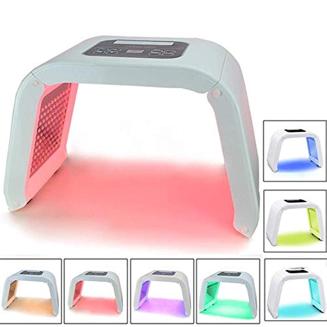 光子光線療法のスキンケア機械、7色光線療法のフェイスマスクランプの美の処置装置は顔のアクネの除去剤の反しわの鉱泉をきつく締めます