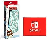Nintendo Switchキャリングケース あつまれ どうぶつの森エディション ~たぬきアロハ柄~(画面保護シート付き) (【Amazon.co.jp限定】Nintendo Switch ロゴデザイン マイクロファイ