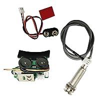 SODIAL サドルピエゾピックアップ オンボードプリアンプシステム アコースティックギターに適用 エレキギターピックアップ